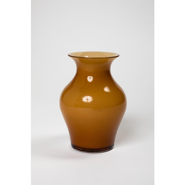 2010s Fortuny by Moretti Madrazo Small Vase in Brown For Sale - Image 5 of 7
