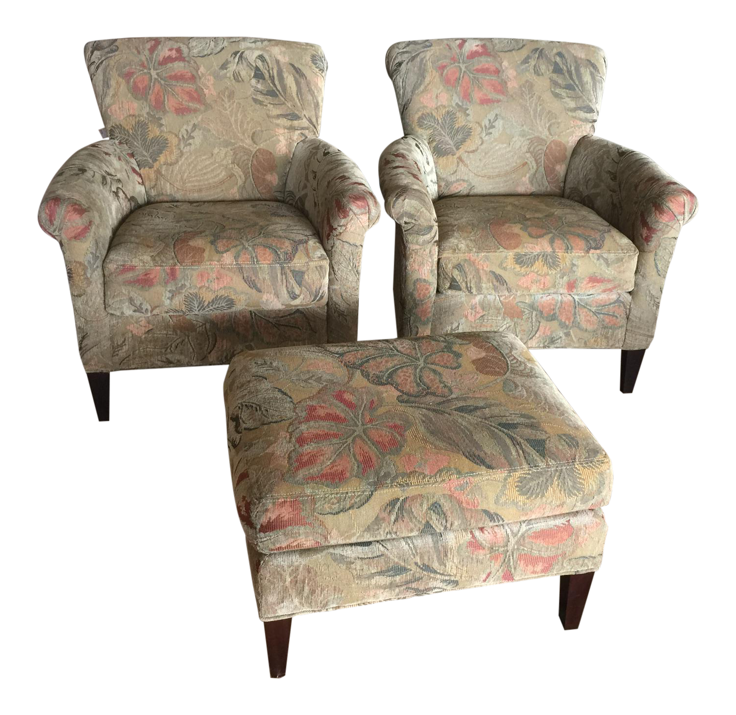 Crate U0026 Barrel Woven Leaf Tapestry Chair For Sale