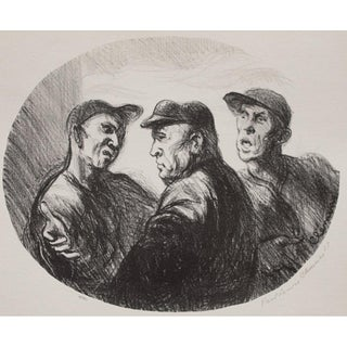 "1939 Paul Clemens Original Period Photogravure ""Baseball Argument"" For Sale"
