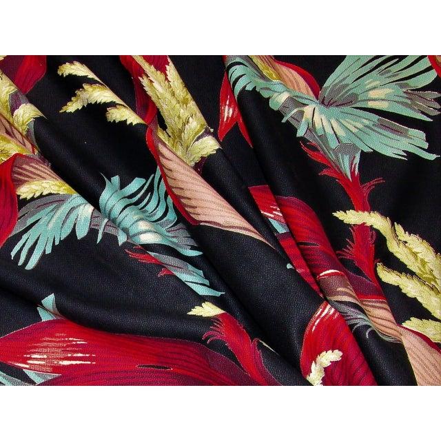 1930's Tropical South Beach Vintage Barkcloth Fabric Drape For Sale - Image 6 of 13