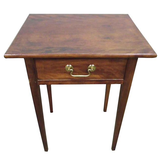 Single Drawer Wooden End Table For Sale