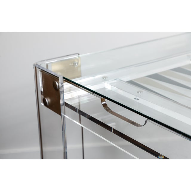 Gold Lucite Backgammon Table in the Manner of Charles Hollis Jones For Sale - Image 8 of 11