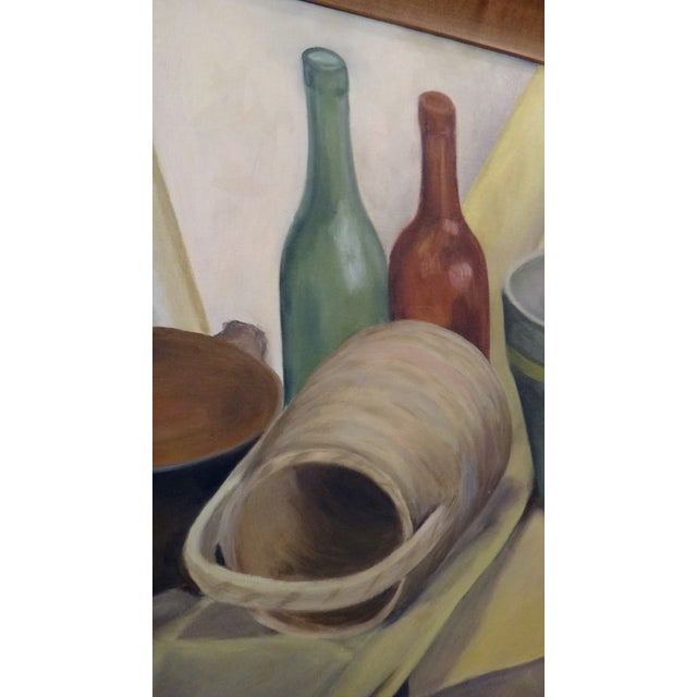 Mid-Century Still Life Painting by K. Stamps - Image 5 of 5