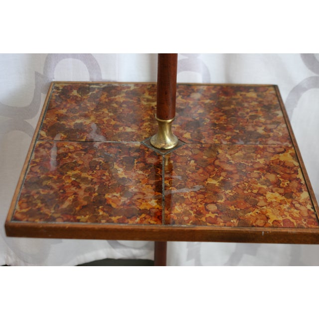 Mid-Century Briard Style Side Table Floor Lamp For Sale - Image 4 of 10
