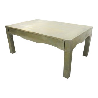 Mid-Century Modern Hammered Metal Coffee Table