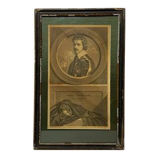 18th Century Framed Mezzotint Engraving For Sale