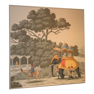 DeGournay Early Views of India Framed Panel For Sale