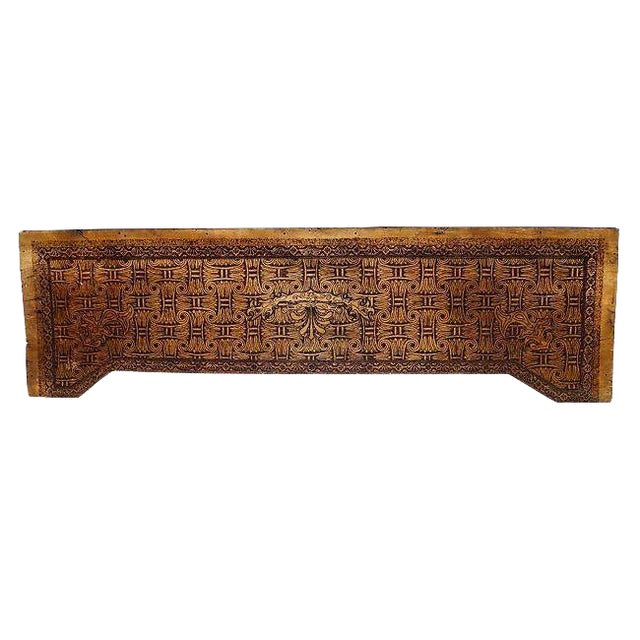 Art Nouveau Carved Wood Frieze Wall Hanging For Sale
