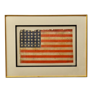 Antique 36 Star American Flag Circa 1864 For Sale