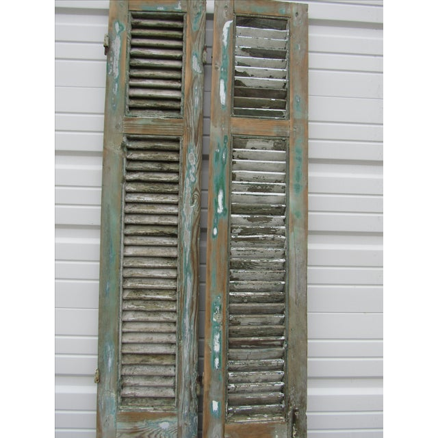 Rustic French Shutters- A Pair - Image 4 of 8