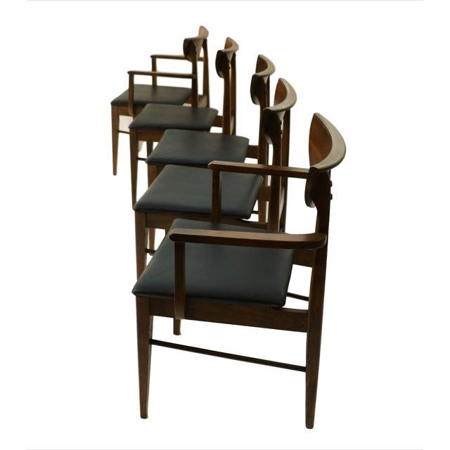 Mid Century Modern Bassett Dining Chairs - S/5 - Image 3 of 10