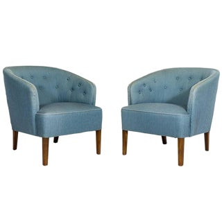 Pair of Ludvig Pontoppidan Lounge Chairs For Sale