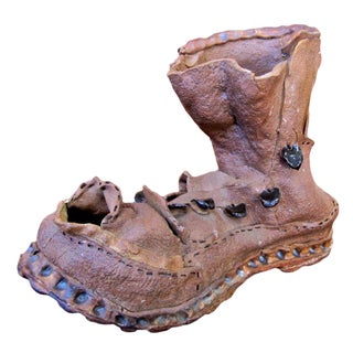 Clay Boot Sculpture For Sale
