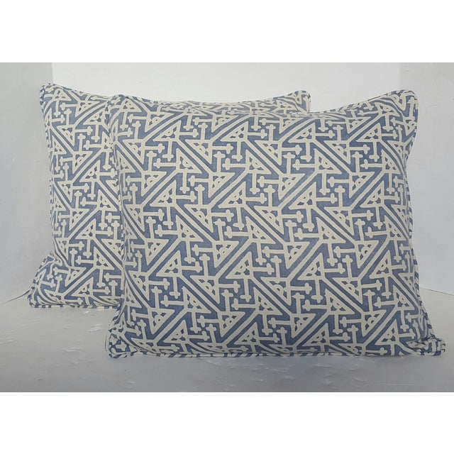 Fortuny Periwinkle Pillows - Pair - Image 2 of 3