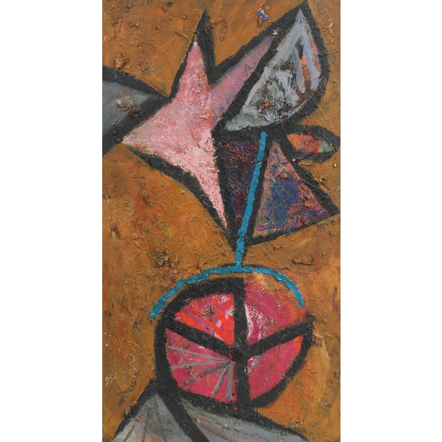 Abstract Modernist Abstract Painting in Oil, Circa 1950s For Sale - Image 3 of 3
