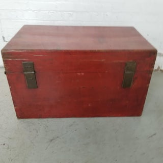 Antique Chinese Red Lacquer Gilt Wooden Wedding Trunk Preview