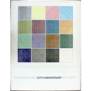 Contemporary Modern Unframed Sol Lewitt Paris Review Poster 1984 For Sale