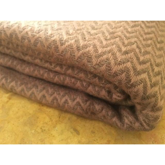 Large Pink Cashmere Blanket - Image 5 of 11