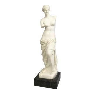 Venus De Milo Classical Greek Statue Figurine on Marble Base For Sale