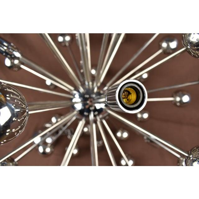 Mid-Century Modern 1960s Vintage Sputnik Chrome Chandelier For Sale - Image 3 of 7