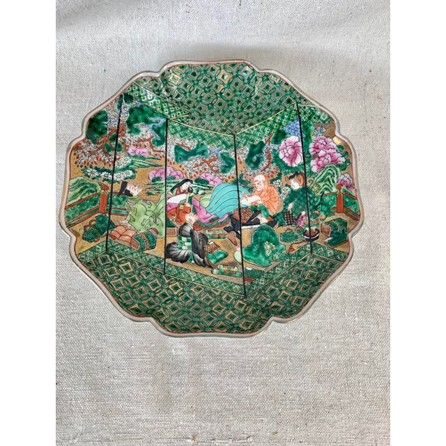 Vintage Chinoiserie Decorative Plate For Sale - Image 10 of 10
