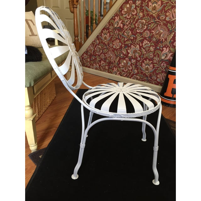 Early 20th Century Vintage French Garden Chair For Sale In New York - Image 6 of 8
