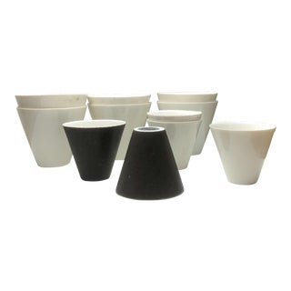 1950s Vintage Lietzke Mid-Century Modern Porcelain Cups - Set of 11