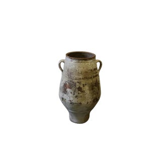 19th Century Terra Cotta Greek Olive Jar For Sale