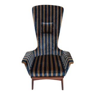 1960s Vintage Adrian Pearsall High Back Lounge Chair For Sale