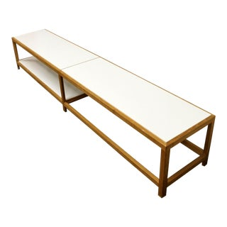 Mid Century Modern Wormley for Dunbar Coffee Table Bench For Sale