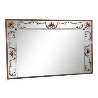 Regency Style Eglomise Wall Mirror For Sale