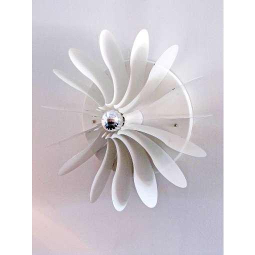 Impressive wall or ceiling flush mount light designed by Hermian Sneyders de Vogel for Raak. ONE LEFT ONLY.