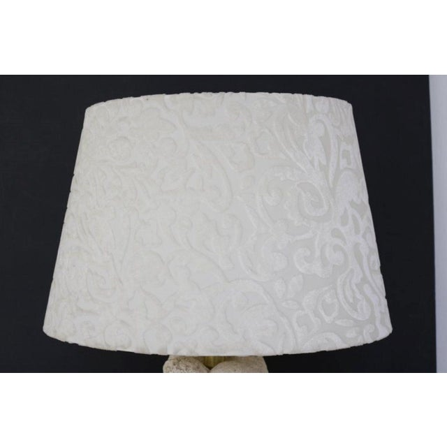 Glass Carved Stone Dolphin Table Lamp For Sale - Image 7 of 8