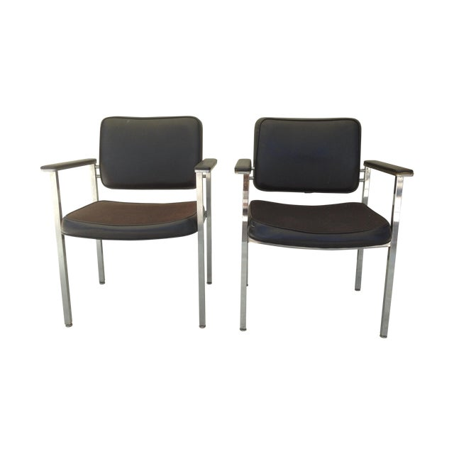 All Steel Co. Office Club Chairs - A Pair - Image 1 of 8