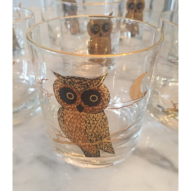 1960s Couroc of Monterey Owl Glasses - Set of 8 For Sale - Image 7 of 8