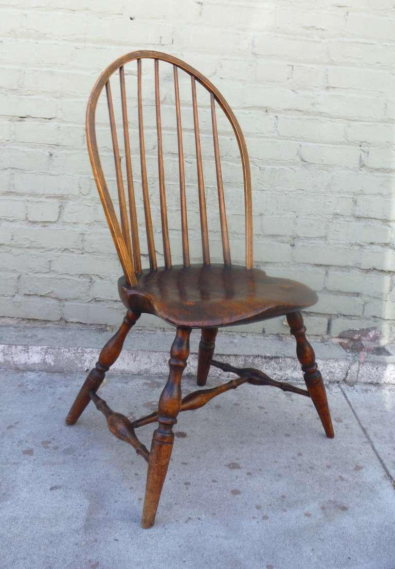 Exaggerated Saddle Seat   18th C. Bow Back Windsor Side Chair   Image 3