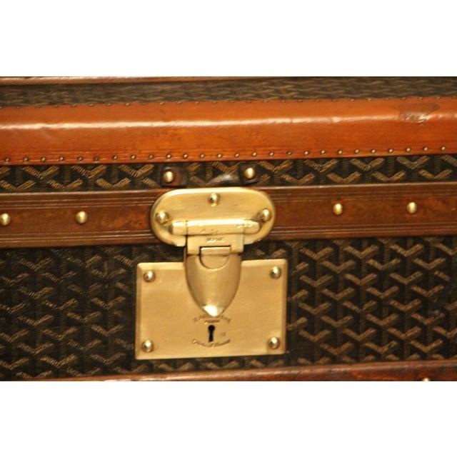 Gold 1930s Goyard Cabin Steamer Trunk For Sale - Image 8 of 13