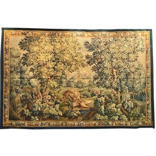 1930 Aubusson Tapestry Hand Loomed by Tabard Atelier For Sale