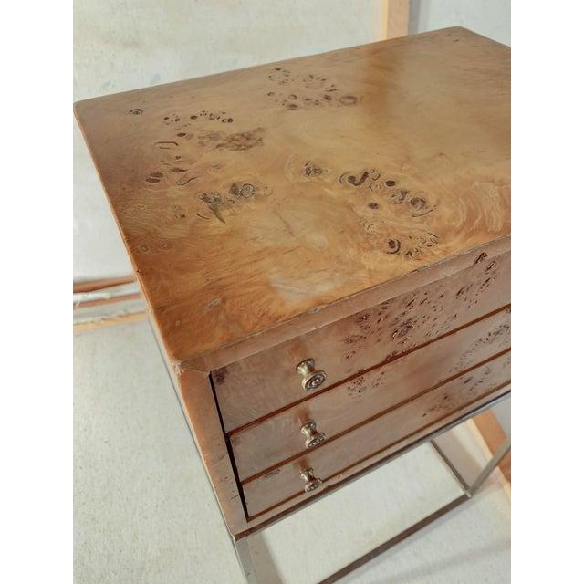 1950s Mid-Century Modern Milo Baughman Burlwood Side Table For Sale In Detroit - Image 6 of 8
