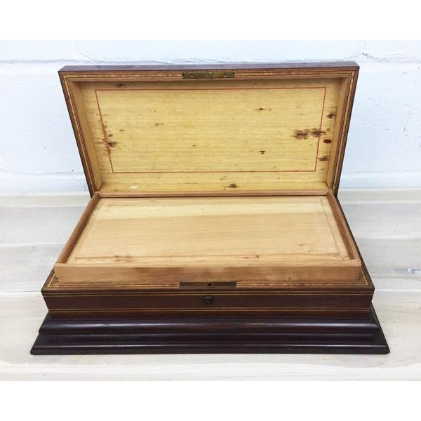 Fabric Vintage Cigar Humidor For Sale - Image 7 of 12