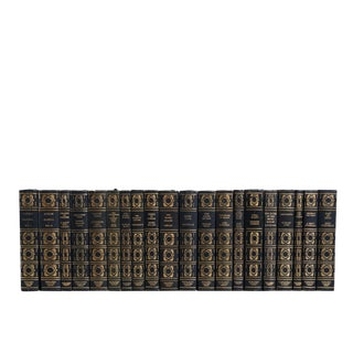 The Collectors Library in Navy & Gilt Book Set For Sale