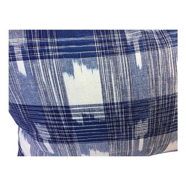 Hand Woven Indigo Ikat Pillows - Pair - Image 4 of 5