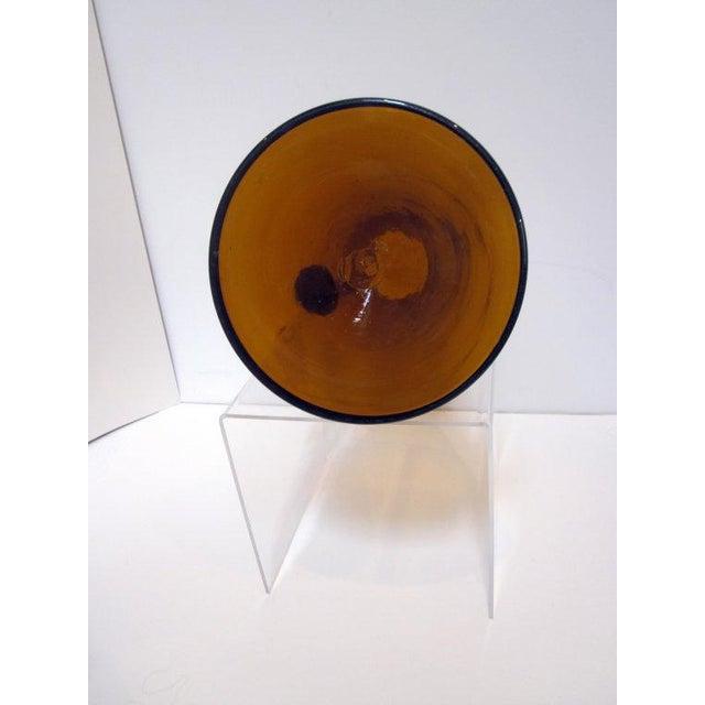 Modernist Amber Blenko Glass Vase Pitcher - Image 4 of 5
