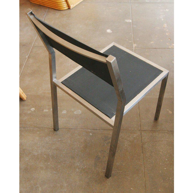 "Aluminum ""Ozon"" Side Chairs by Royal Botania, Set of Four - Image 3 of 3"