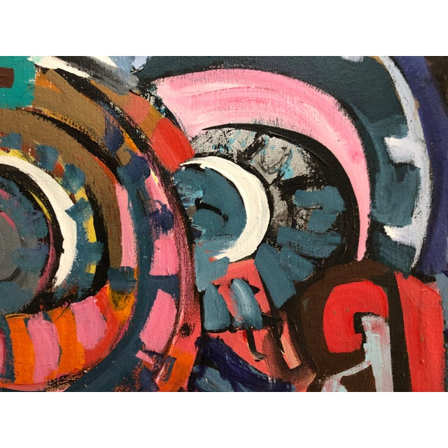 1970s Abstract Expressionism Painting Ny Artist For Sale In New York - Image 6 of 11