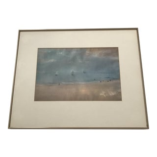 "Degas ""Beach With Sailing Boats"" Modern Print"