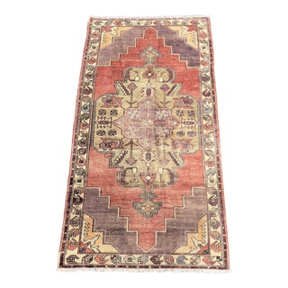 "Vintage Turkish Anatolian Runner - 4'4"" X 8'10"""