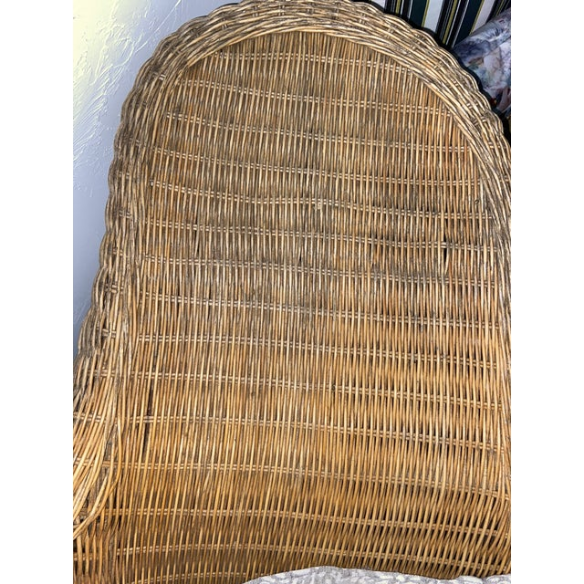 Charles Eames Vintage Modern Wicker Chaise Lounge For Sale - Image 4 of 8