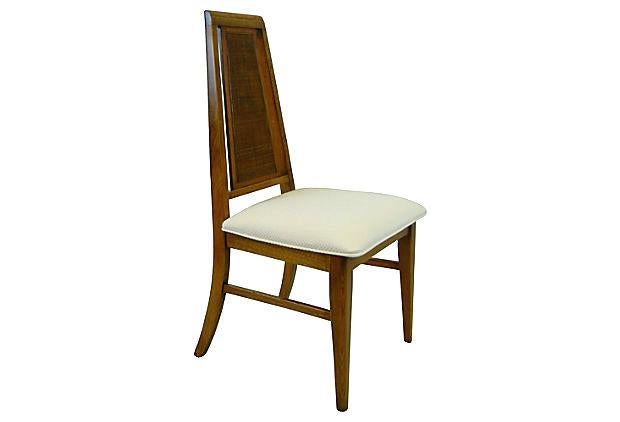 A Set Of Four Mid Century Modern High Back Dining Chairs, Made By