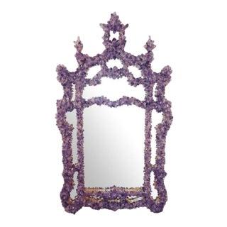 Marjorie Skouras Chinese Chippendale Style Amethyst Quartz Mirror